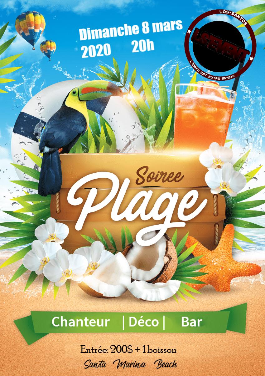 Soirée Plage ! Chanteur | Déco | Bar | 08/03/2020 200307013526633071