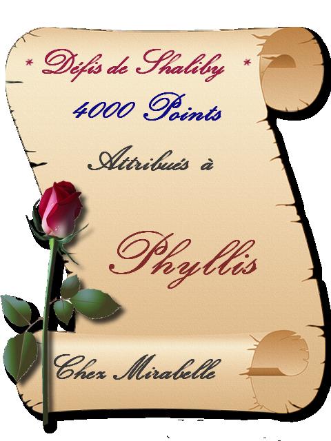 """Récompense- Phyllis : 4000 pts """"Défis - Shaliby"""" 200315115828434660"""