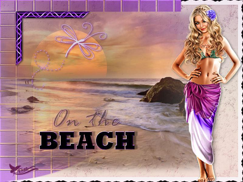 Sur la plage ( Psp) 200321043500356589