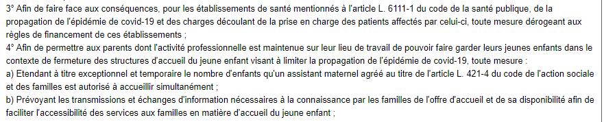 LOI article 11- 3et4 LOI n° 2020-290 du 23 mars 2020 d'urgence pour faire face à l'épidémie de covid-
