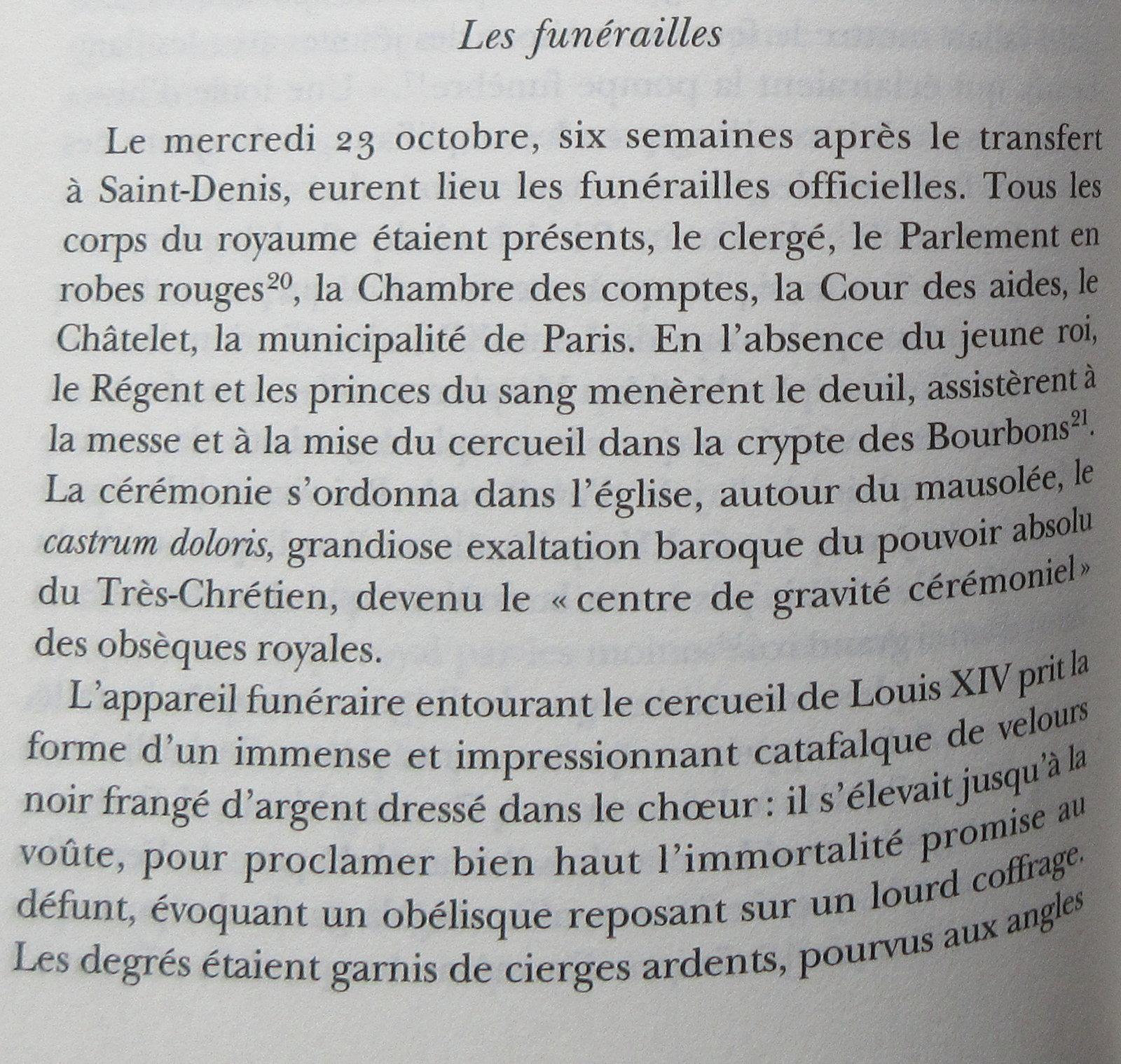 Le cérémonial des funérailles de Louis XIV 200326045814428759