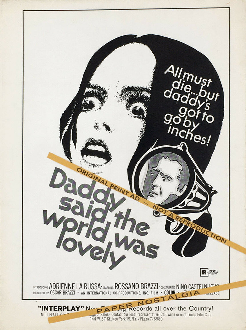DADDY-SAID-THE-WORLD-WAS-LOVELY-Original-1970-Trade
