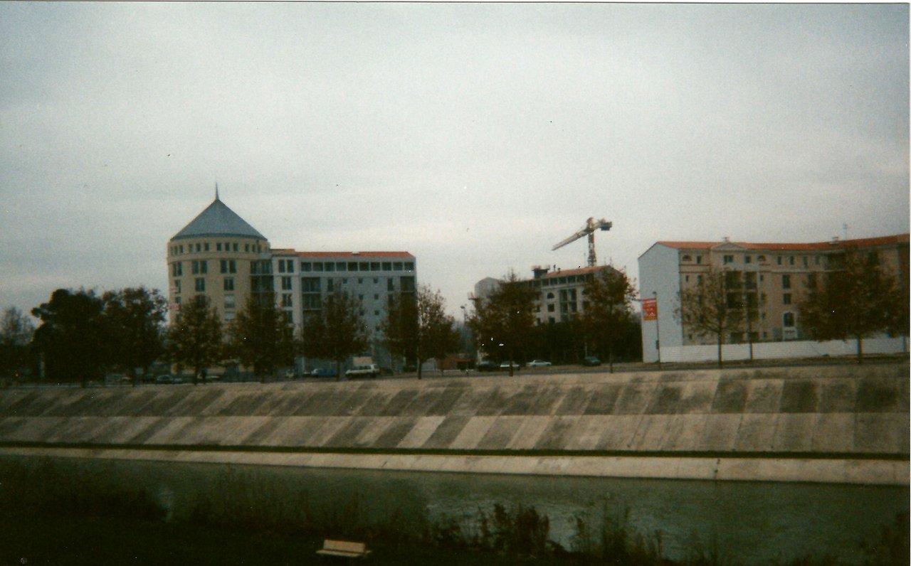 Port Marianne Montpellier 1994 grue BPR