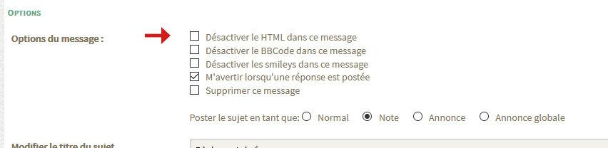 Activer le HTML dans les messages du forum 200402055848462828