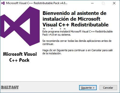descargar microsoft visual c++ 2020 redistributable