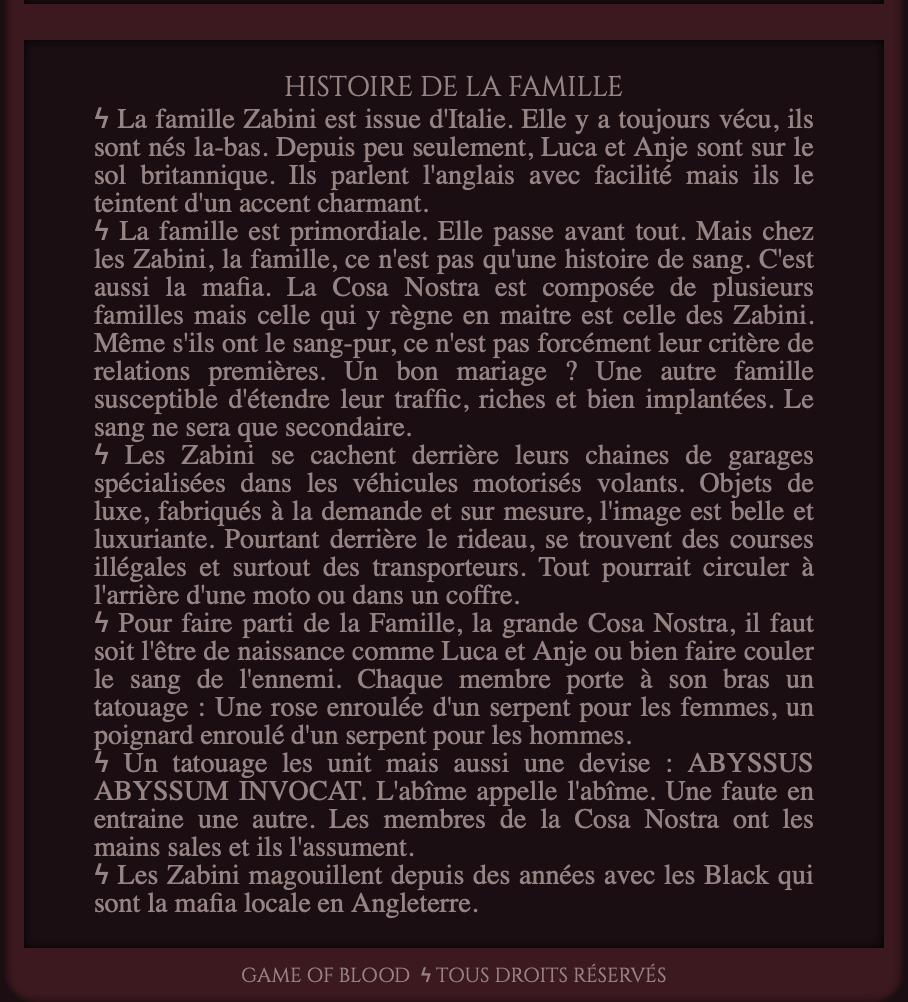 Famille Zabini ♚  Sorciers mafieux ♚ Courses illégales et trafics à motos volantes 200414022230192895