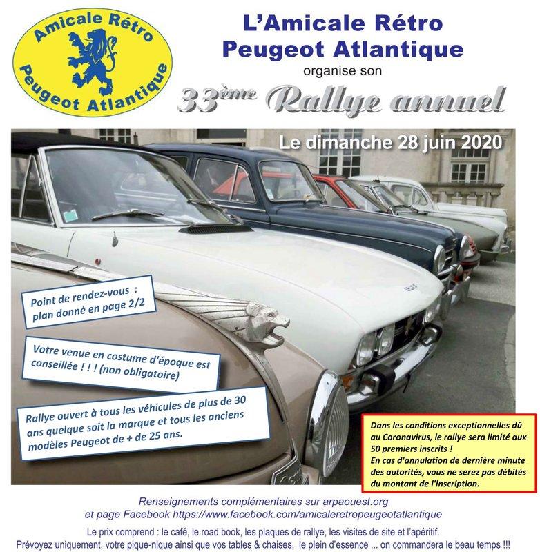 28 Juin - 33ème Rallye de l'Amicale Rétro Peugeot Atlantique 200424063832747283