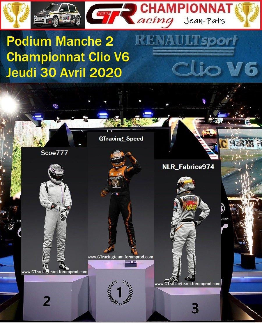 Résultats Manche 2 du Championnat Clio V6 e 30/04/2020 200501063555184130