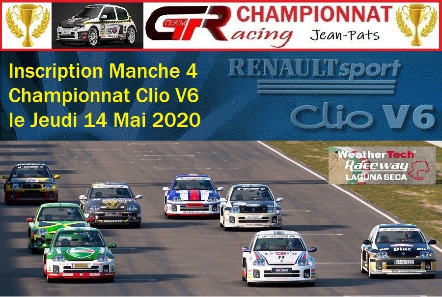 Inscription Manche 4 du Championnat Clio V6 le 14/05/2020 200508025952710853
