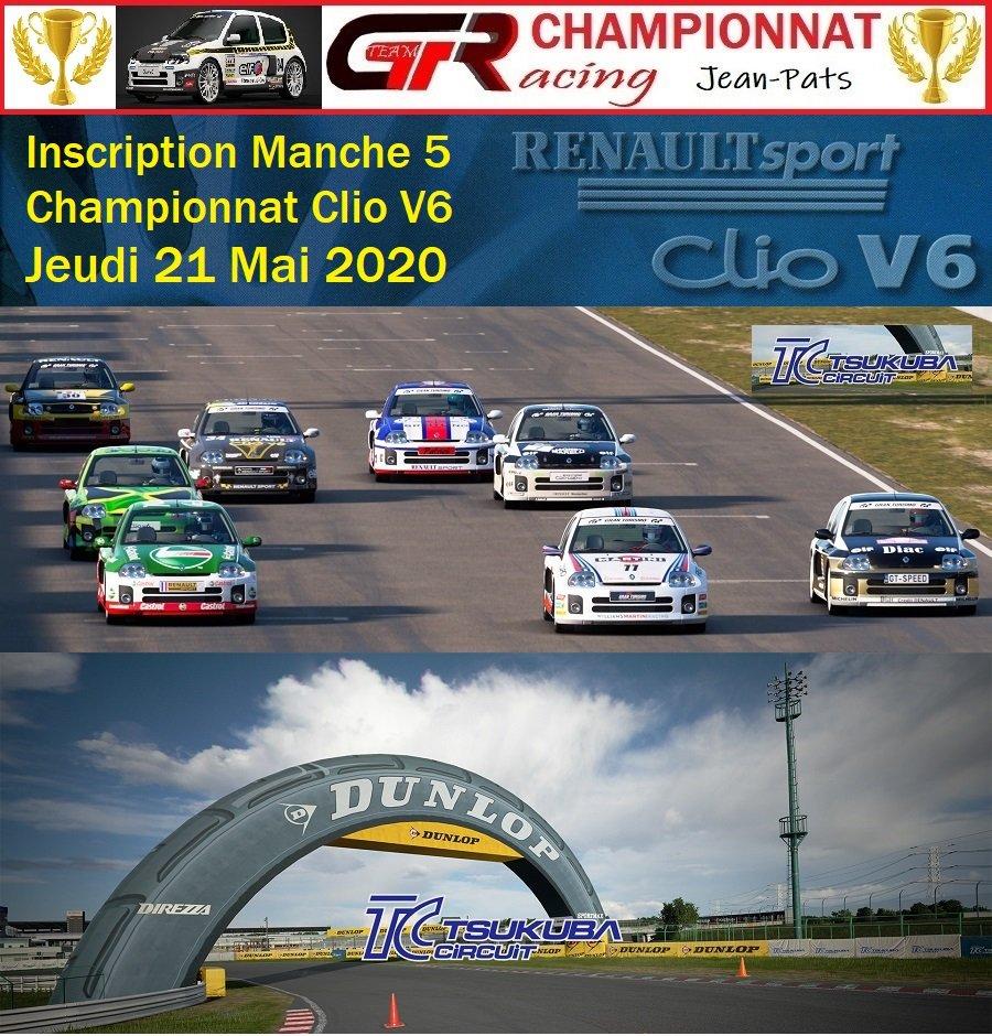 Inscription Manche 5 du Championnat Clio V6 le 21/05/2020 200517082827841761
