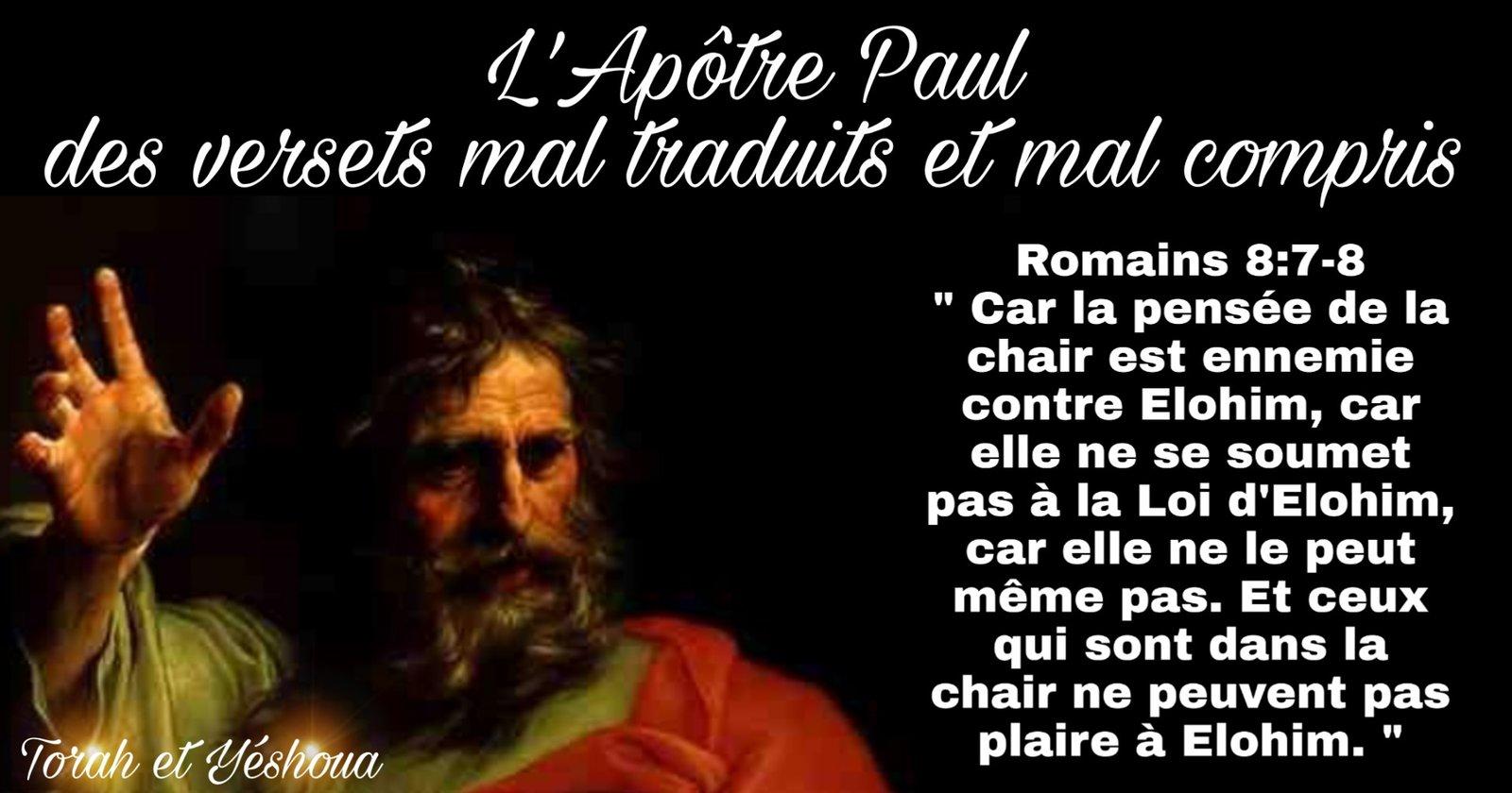 L'Apôtre Paul des versets mal traduits et mal compris 200518122304792482