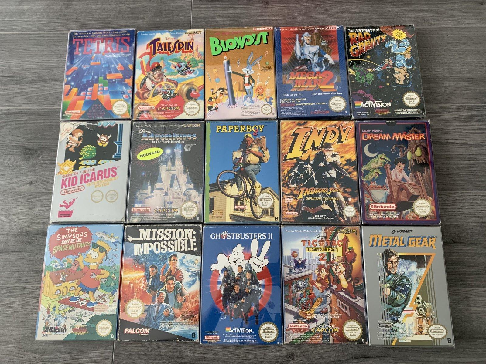 [VENDUE] Ma Collection complète de jeux NES PAL B en boite complète  200525010519497467