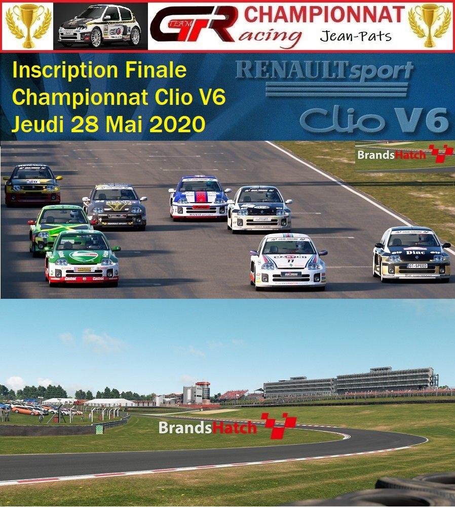 Inscription Finale du Championnat Clio V6 Jeudi 28 Mai 2020 200525064713640858