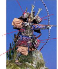 Samouraï archer Pegaso 90 mm : terminé Mini_200610024646600128