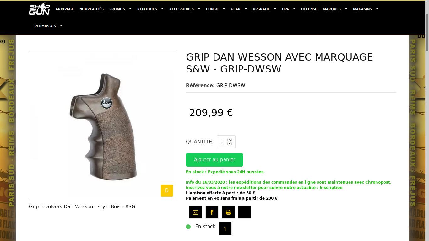 Pieces détachées Dan Wesson, l'affaire du jour 200616030020270254