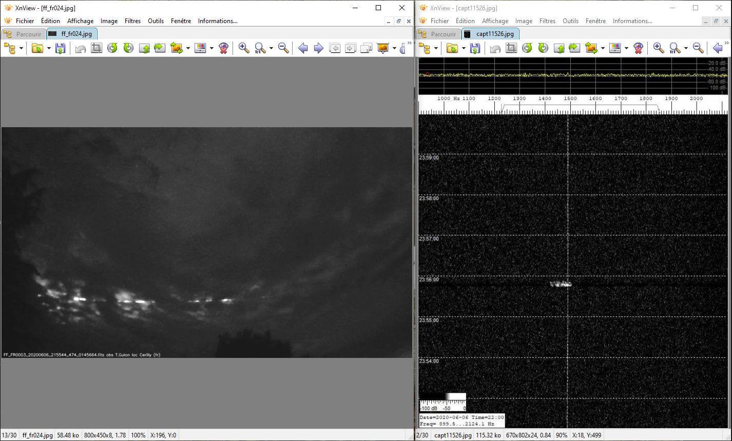 Recoupement de captures video et d'enregistrements de traces du Radar Graves 200616114407426821