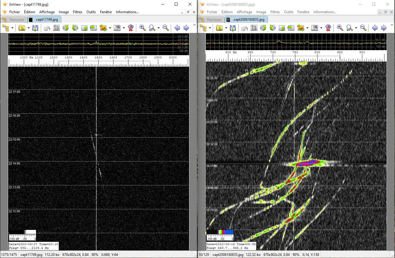 Recoupement de captures video et d'enregistrements de traces du Radar Graves 200616115234921189
