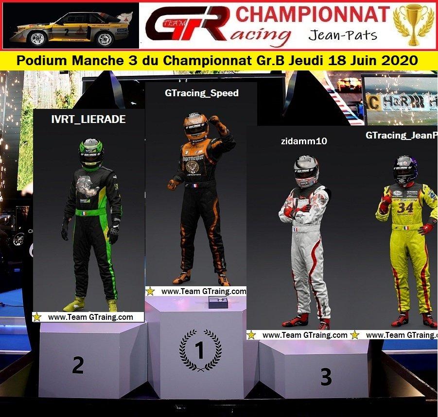 Résultats Manche 3 du Championnat Gr.B Jeudi 18 Juin 2020 200619051912481308