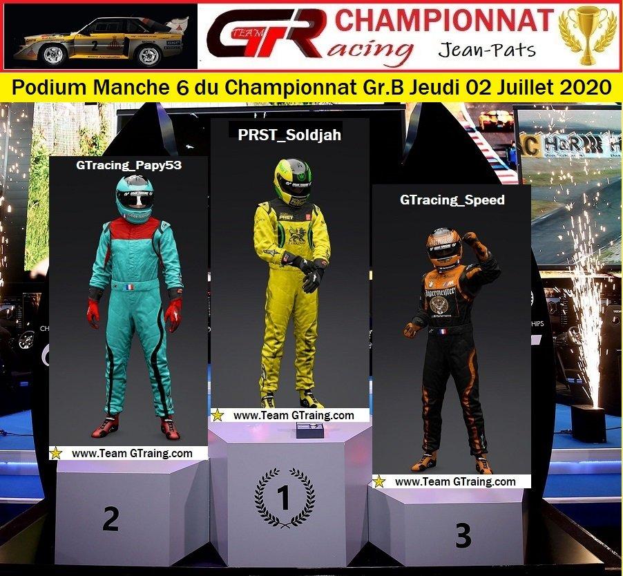 Résultats Manche 6 du Championnat Gr.B Jeudi 02 Juillet 2020 200703015243836381