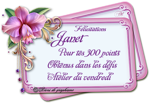 Récompense Janet 300 points 20070501284275880