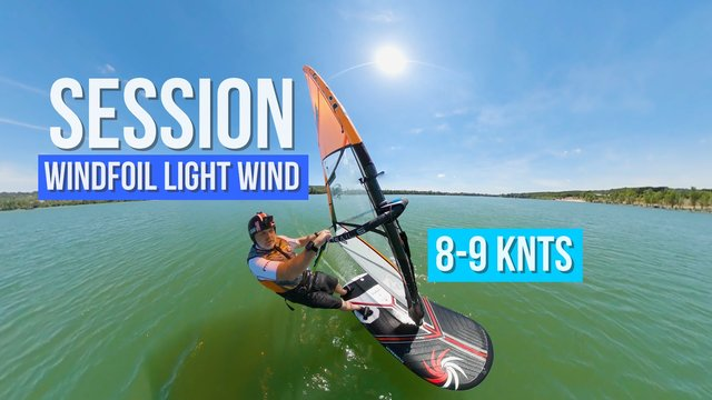light wind session windfoil foil windsurf xlw