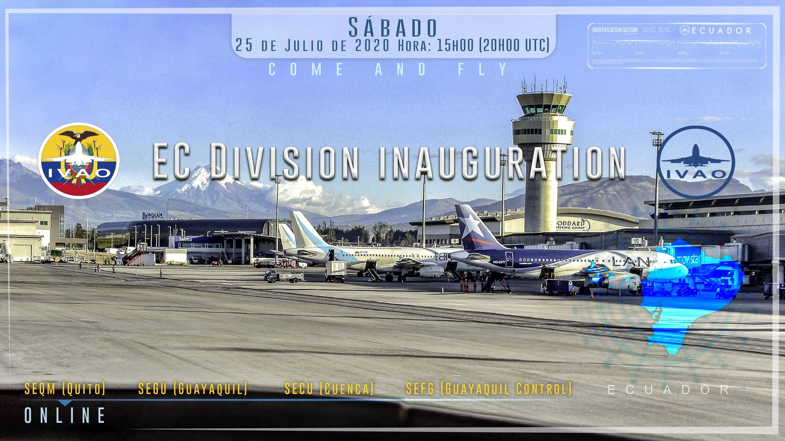 [25 JUL | 20z-00z] [VE+EC] Inaugural Division Event, Ecuador Fly In