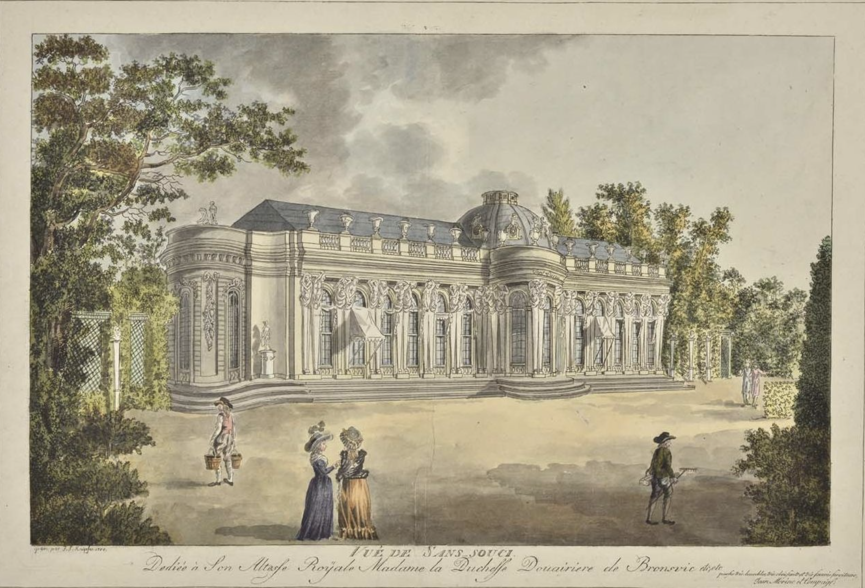 Le palais et le parc de Sans-souci, ou Sanssouci, à Potsdam  200726022131155294