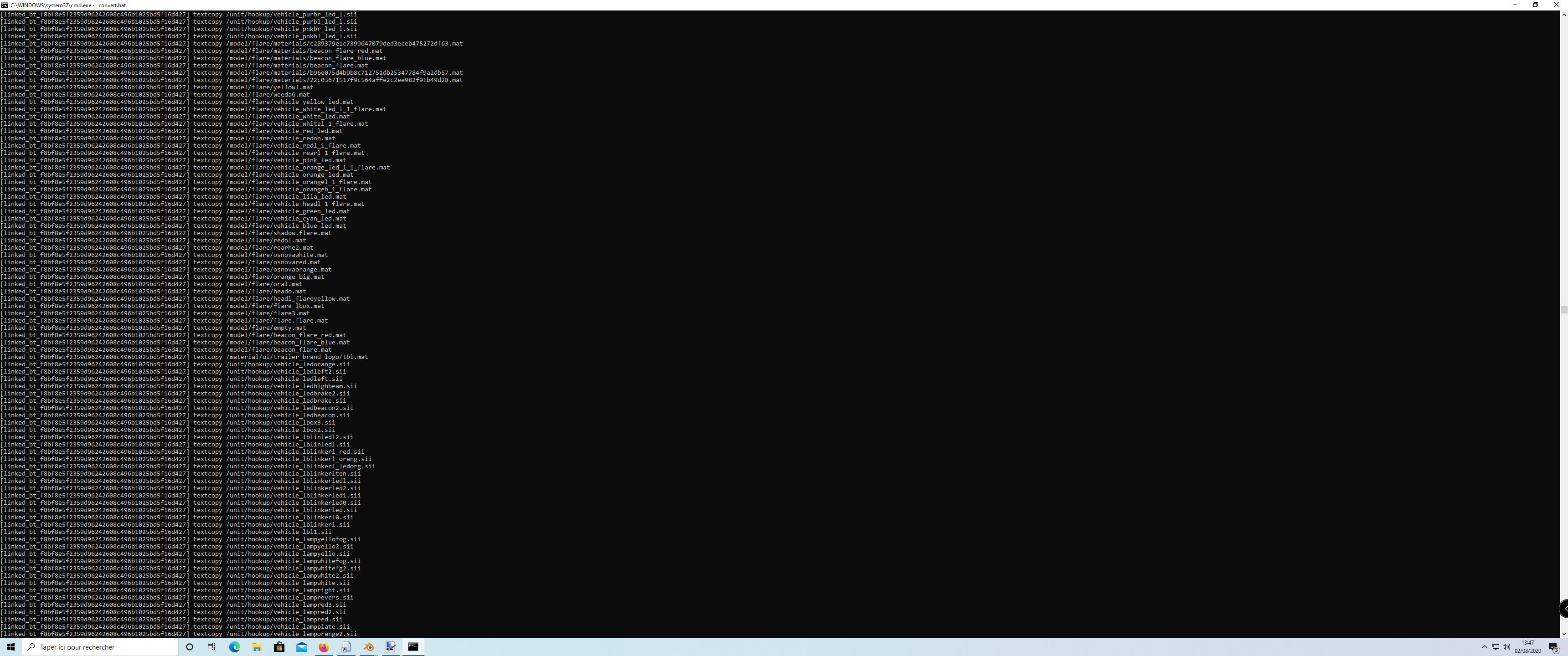 error exportation