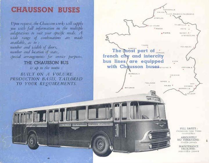 BUS CHAUSSON?BROCHURE 1954 VENTES BUS CHAUSSON FRANCE?wn1927