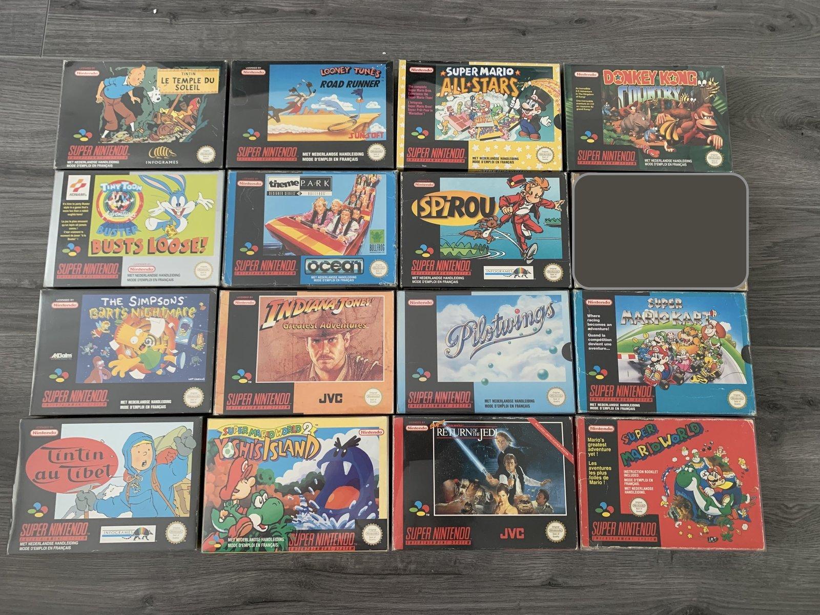 [VDS] Ma Collection complète de jeux SNES en boite complète  200811055122891122