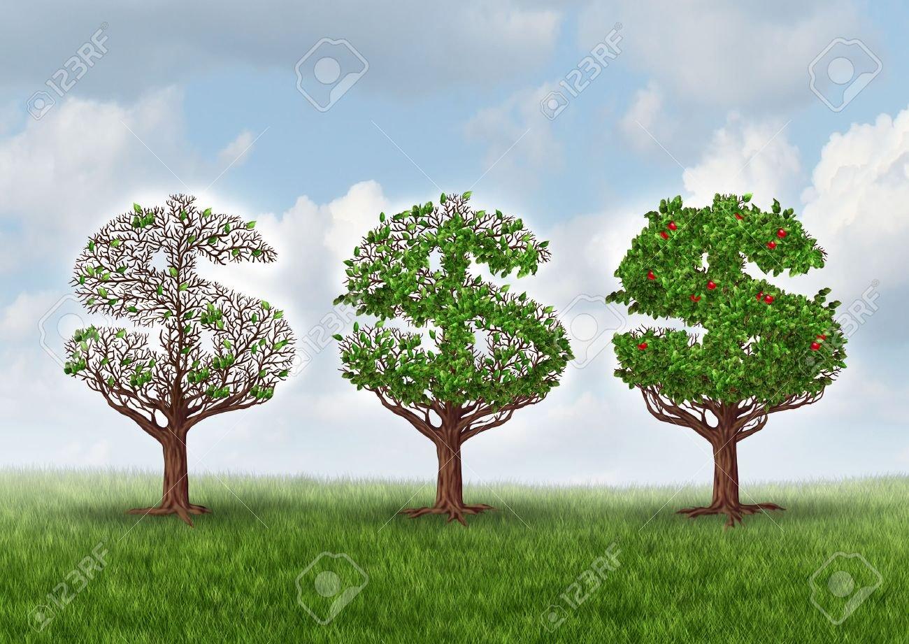 26171417-la-reprise-économique-et-la-croissance-des-entreprises-métaphore-de-la-richesse-comme-un-groupe-d-arb