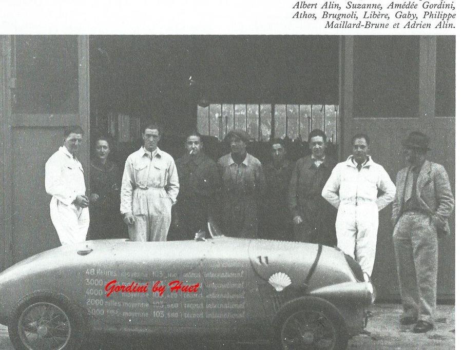 gordini simca 5 record montlhery oct37 huet