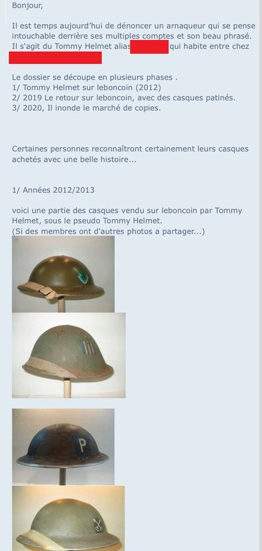 Rare casque anglais Mp 50 th division infanterie ww2 Normandie  - Page 3 200907011719832811