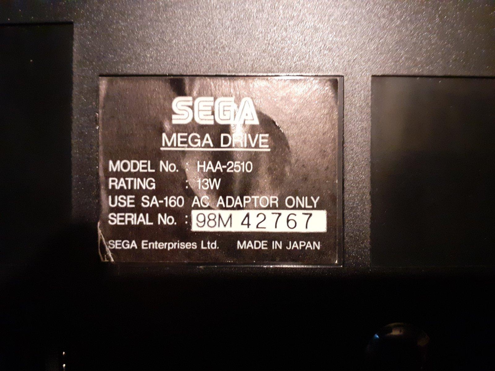 (Vds) Megadrive 1 Jap VA0 1rst run en boite 200921092401276784