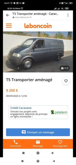 Avis annonce T5 2.0l essence aménagé 200922030557676221