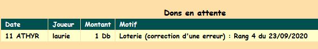 Correction erreur don