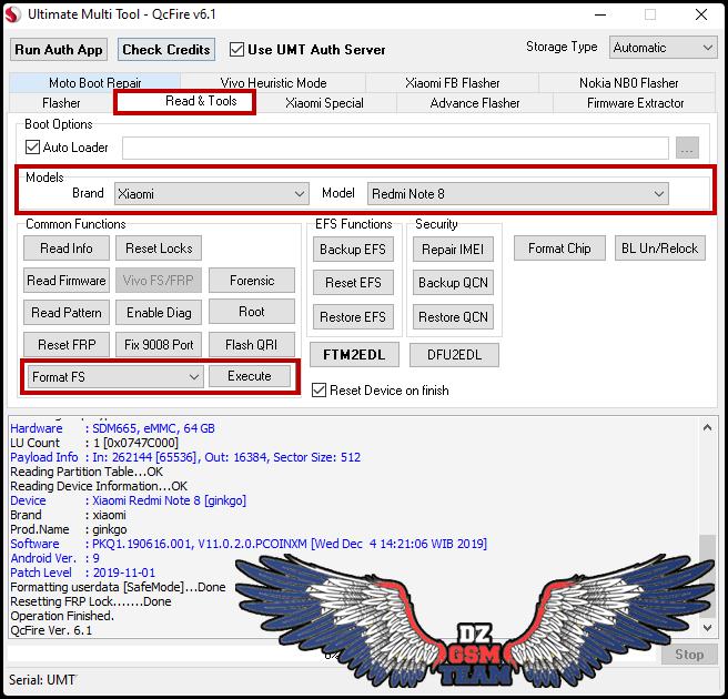 Redmi Note 8 Format Fs + Reset FRP