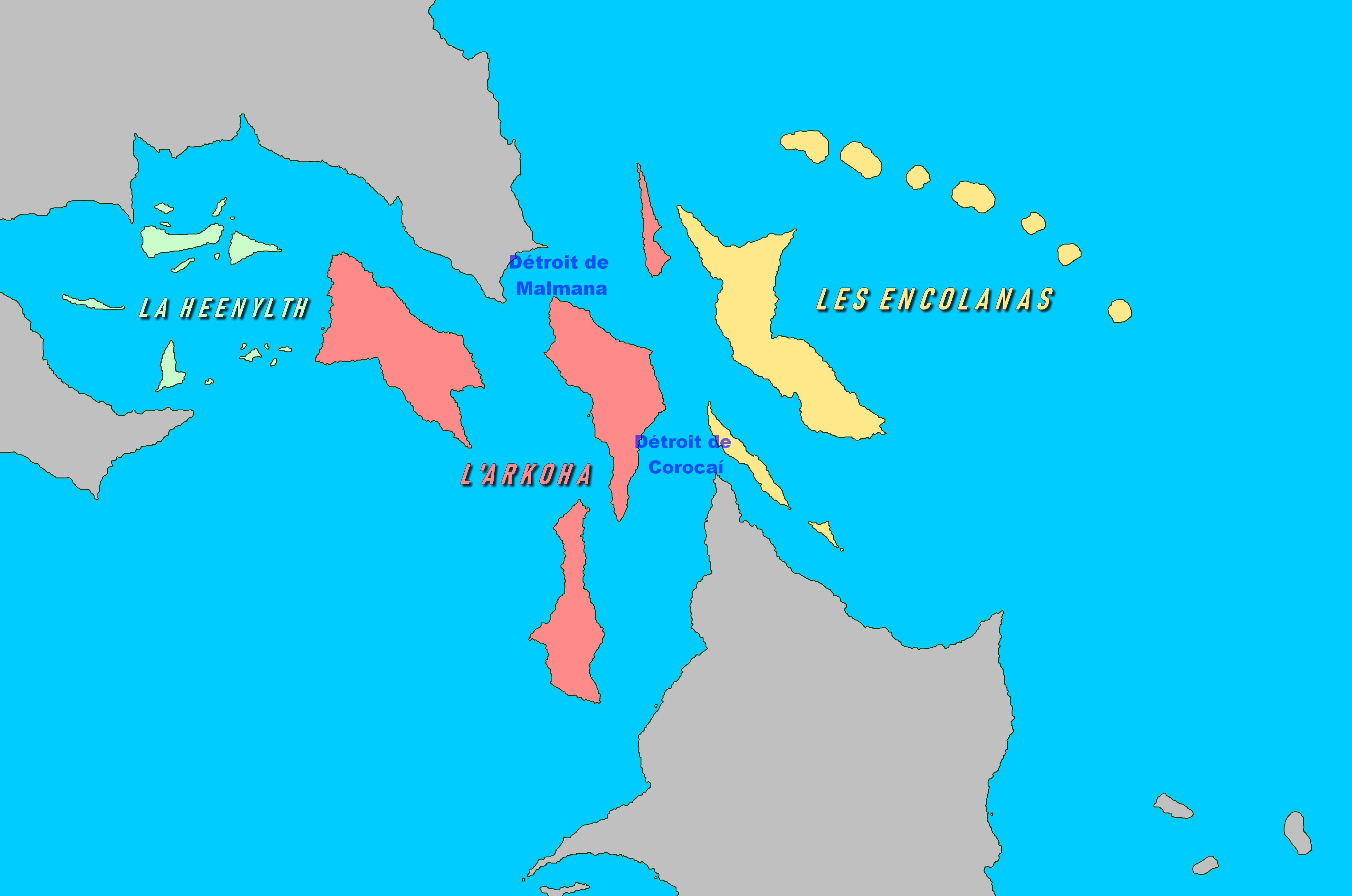 Cartographie des détroits d'Arkencheen