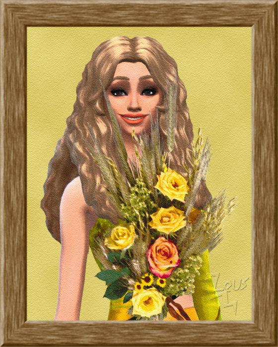 Epi or, roses jaunes