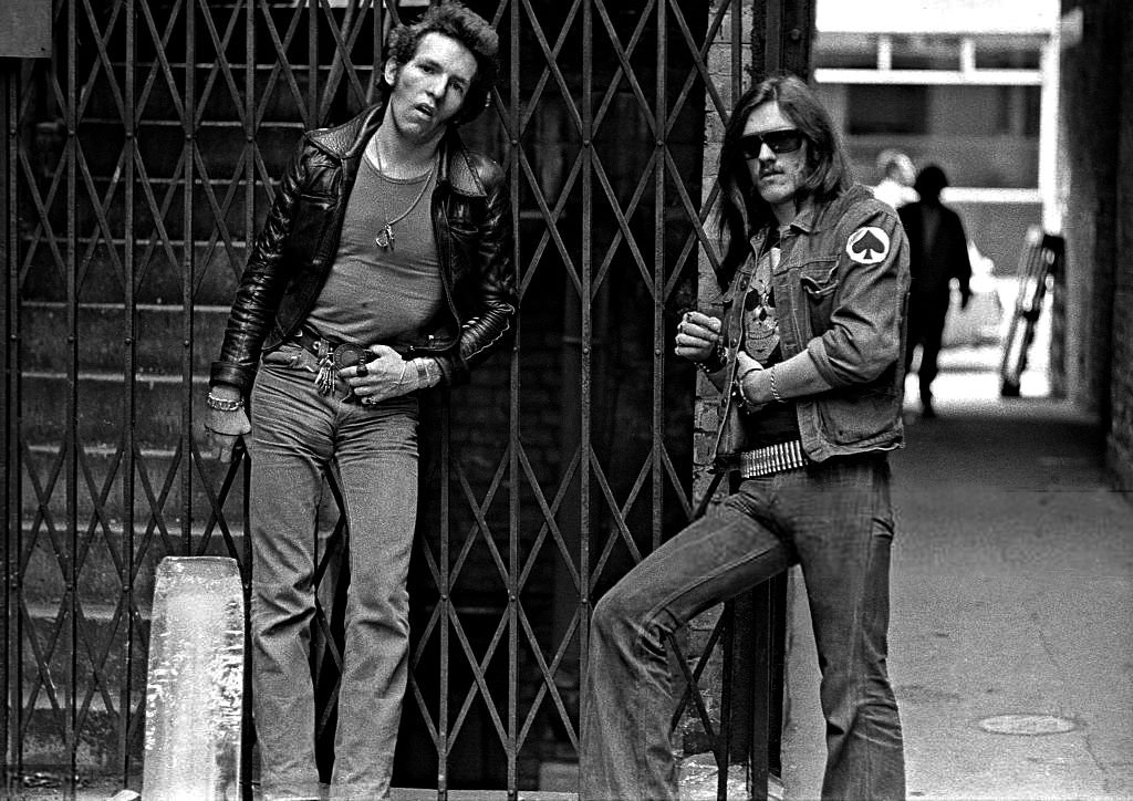 Lemmy and Lucas Fox the very first drummer 1975