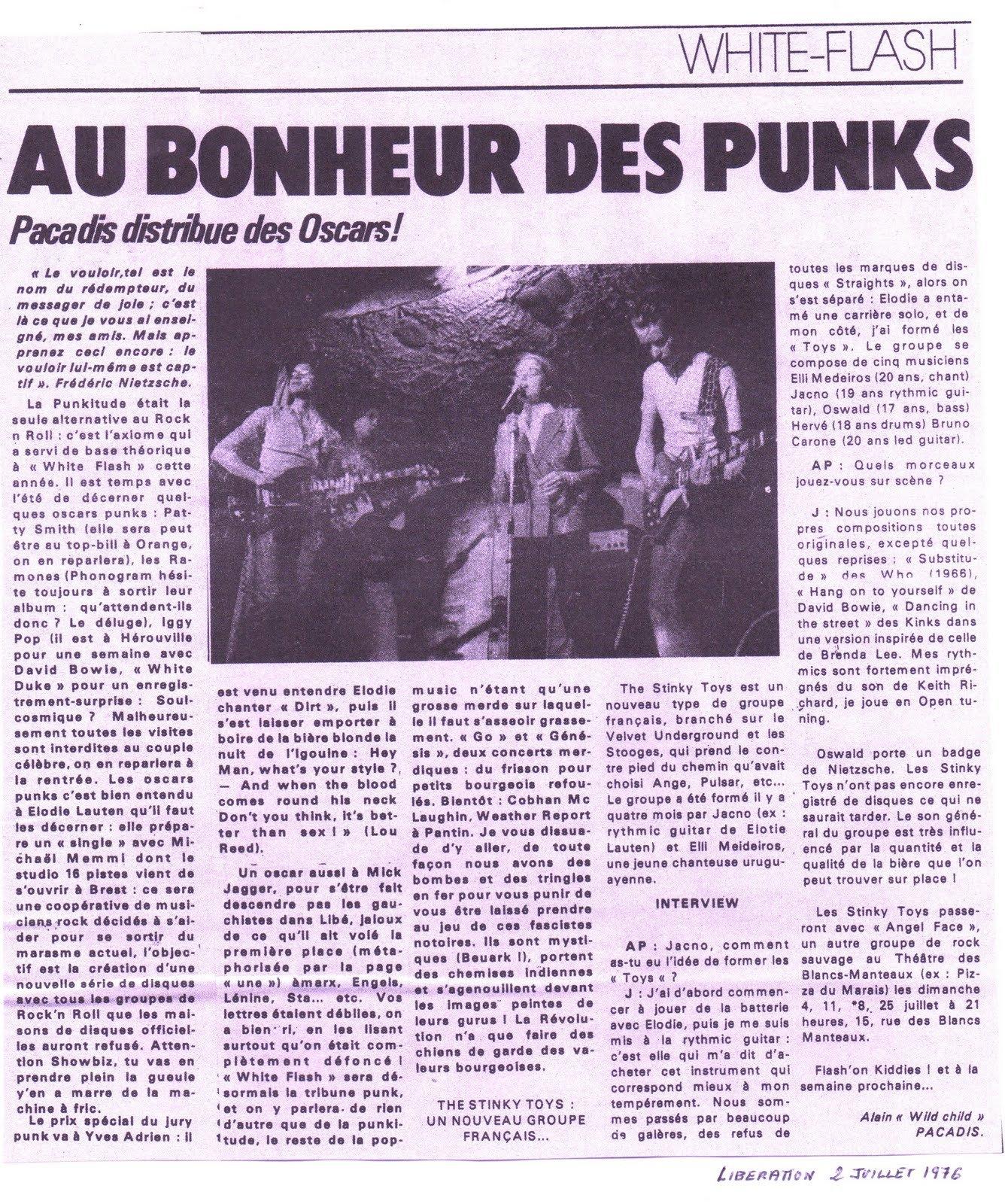 Lib? 2 Juillet 1976 parAlain Pacadis