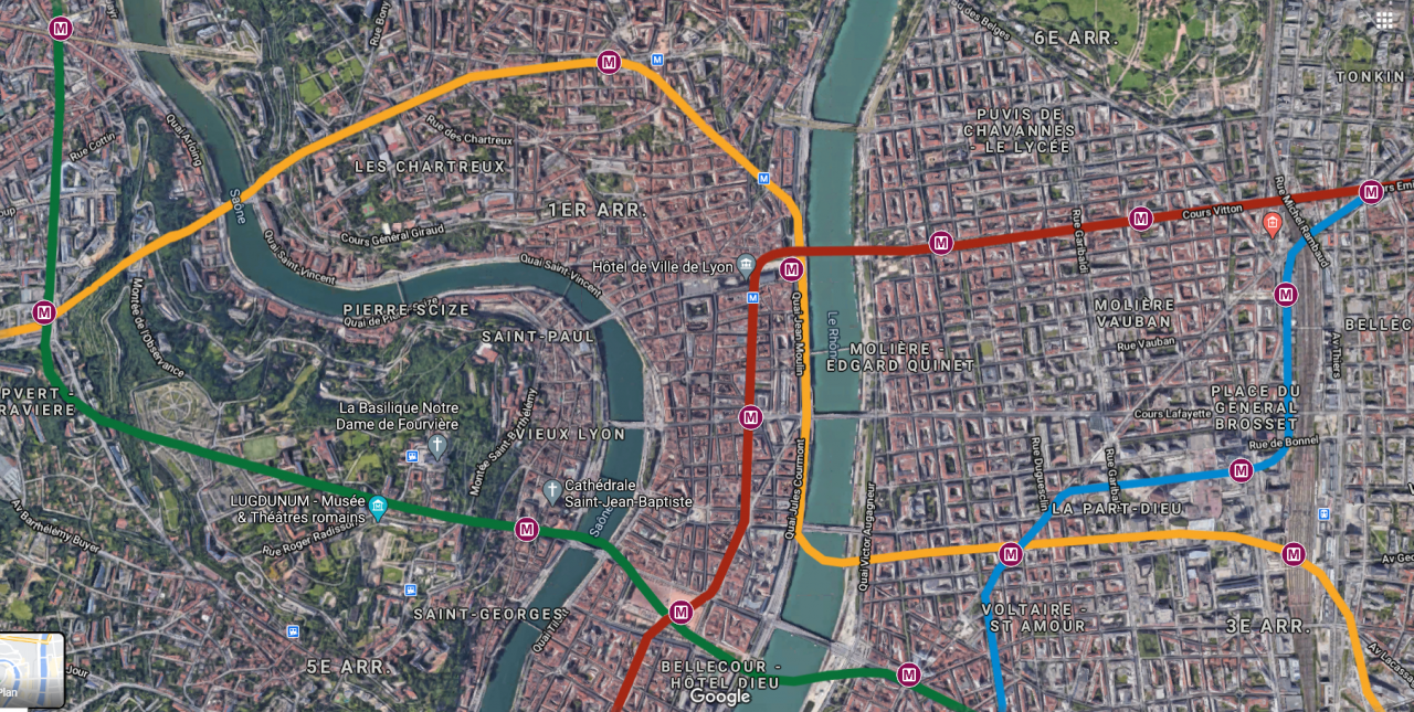 2020-10-14 14_18_22-Métro lyonnais - alternatives - GoogleMaps