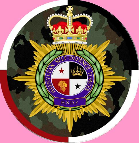 logo institutionnel des Heenyltan Self-Defence Forces (HSDF)