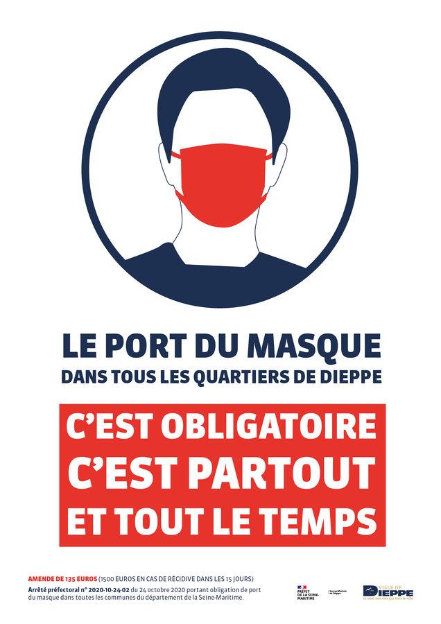 Ville De Dieppe Depeches Port Du Masque Obligatoire Partout Et En Permanence