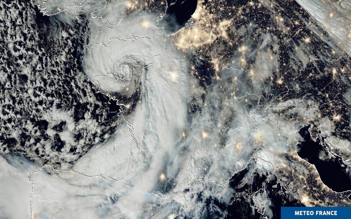 La tempête Alex sur toute l'Europe