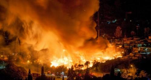 Incendie d'un campement de migrants et travailleurs étrangers