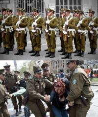Miliciens de la partisanerie identitaire encolanaltèque.