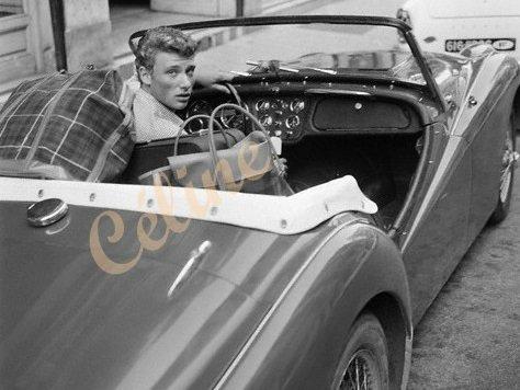 TRIUMPH TR3 DE JOHNNY HALLYDAY ( 1961 ) 20112210301352377