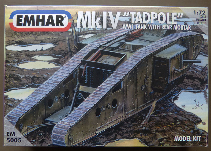 """From the box - Char Mk IV """"Tadpole"""" - Emhar - 1/72 *** Terminé en pg 2 20112311580068030"""