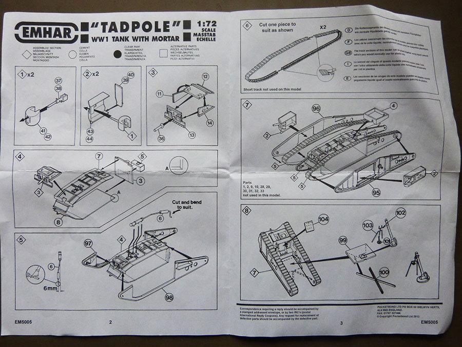 """From the box - Char Mk IV """"Tadpole"""" - Emhar - 1/72 *** Terminé en pg 2 201123115800997721"""